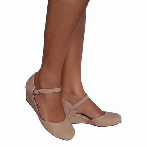 sapato feminino boneca nude salto baixo medio ultra conforto