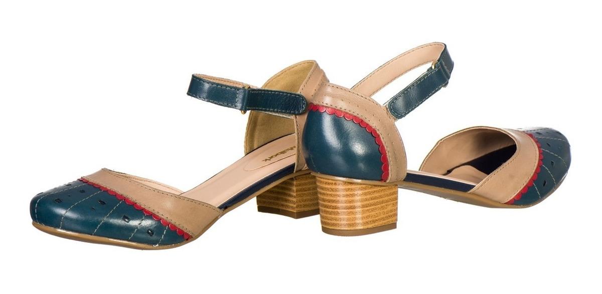 0c4293265 sapato feminino boneca retro malbork em couro marinho 3114. Carregando zoom.