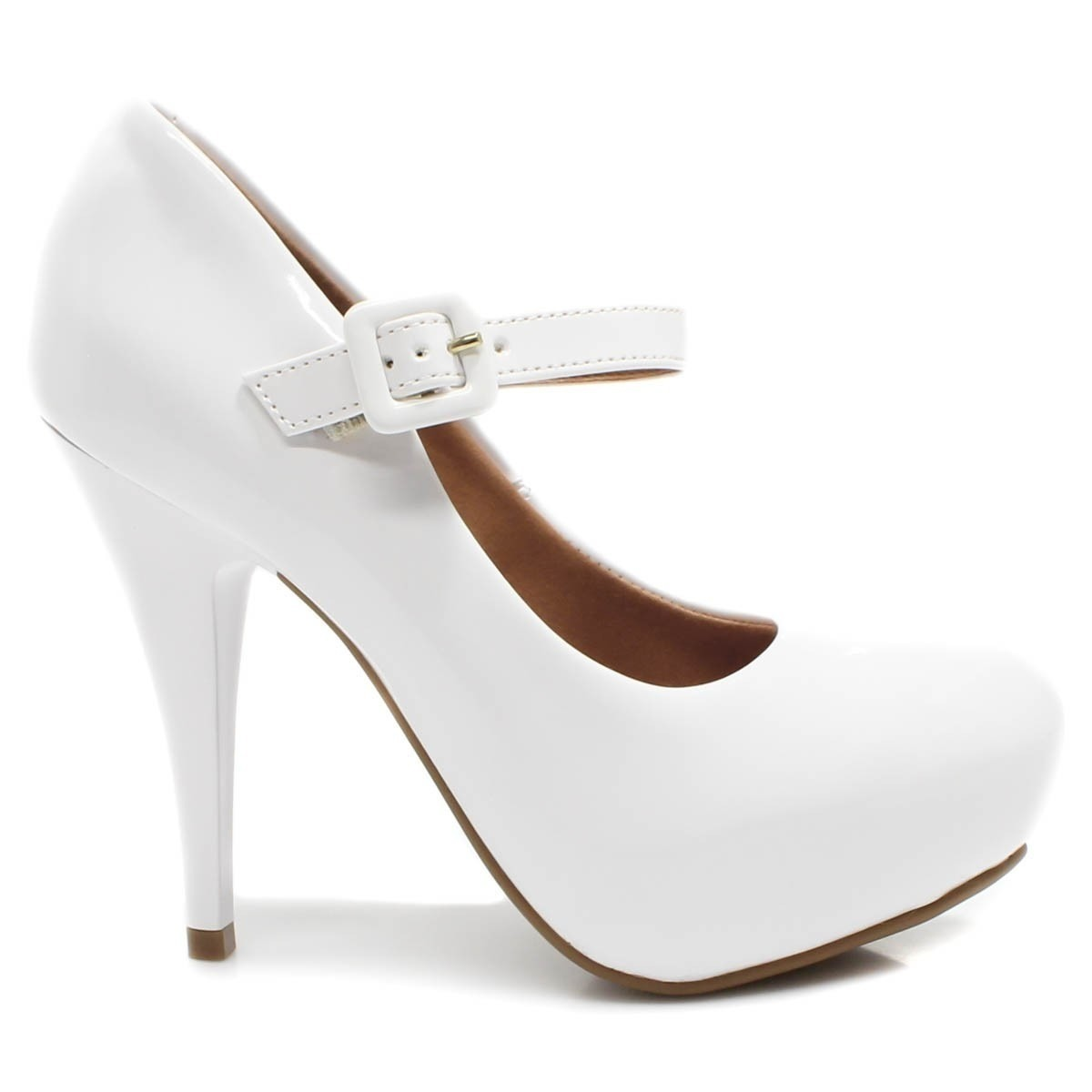 f75cdafc4 sapato feminino boneca salto alto vizzano casamento branco. Carregando zoom.