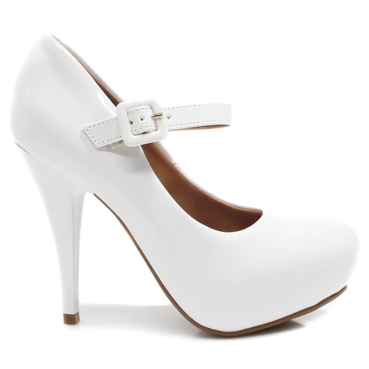 09b8aaed7 sapato feminino boneca salto alto vizzano casamento branco. Carregando zoom.