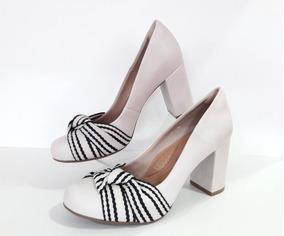 bdebb6ea2c Sapatos Bebece Salto Grosso Scarpins - Sapatos com o Melhores Preços ...