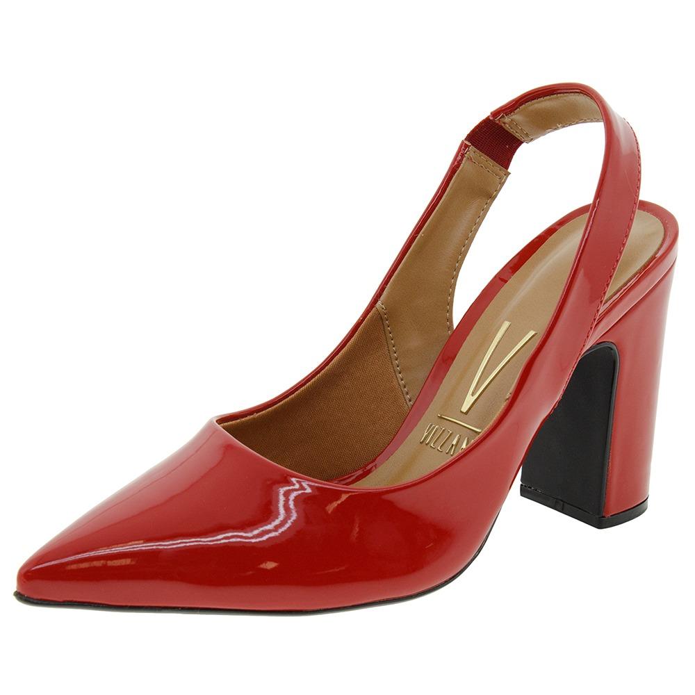 face459713 sapato feminino chanel vermelho vizzano - 1285103. Carregando zoom.