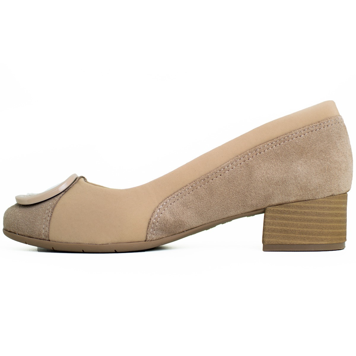 11c3f729e7 sapato feminino comfortflex salto baixo avelã preto 1895305. Carregando  zoom.