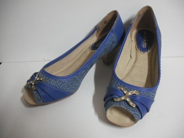 2739224cb Sapato Feminino Dakota Azul Tam 39 Impecável - R$ 57,00 em Mercado Livre