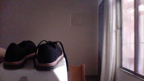 sapato feminino de camurça cor preto número 37 beira rio