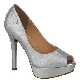 9989a27ea Sapato Prata Da Marca Americana Mulher Peep Toe - Sapatos com o ...