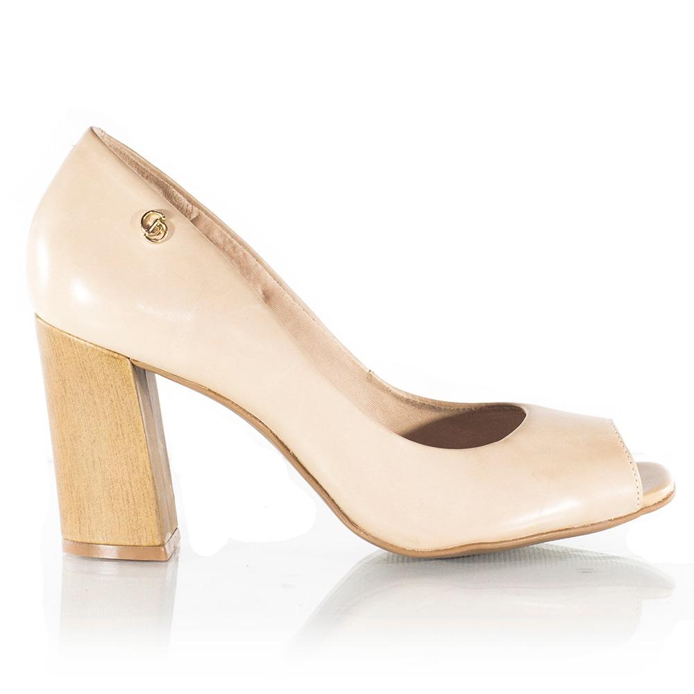 f927058d01 sapato feminino giulia domna peep toe bege. Carregando zoom.
