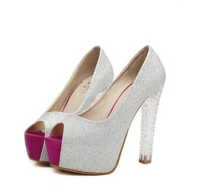 70a9980b5 Sapato Salto Alto Prata Ou Preto Festa Peep Toe Meia Pata ! 1. 19 vendidos  · Sapato Feminino Importado Cristal Com Strass - Frete Grátis