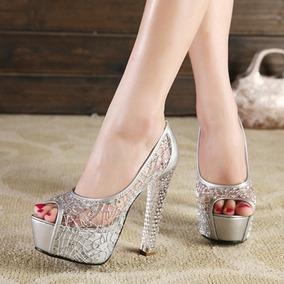 47c9313de Sapato Para Festa Roseclair, Prata Tamanho 35 - Sapatos para ...
