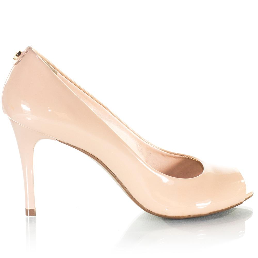 8845712afd sapato feminino jorge bischoff peep toe nude. Carregando zoom.