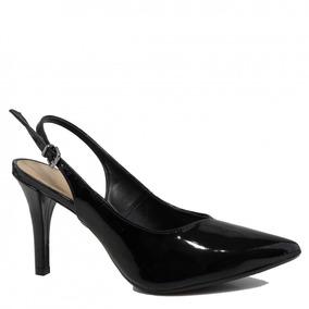 961f8e14c4 Sapato Feminino Mariotta Chanel Bico Fino Salto Alto 18036