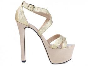 64e6b901c Sapato Dourado Meia Pata 15 Anos - Sapatos no Mercado Livre Brasil