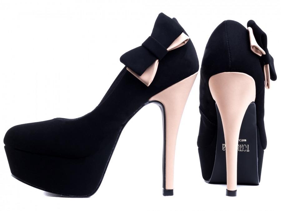 ade46e6a8b sapato feminino meia pata salto alto fino preto festa evento. Carregando  zoom.