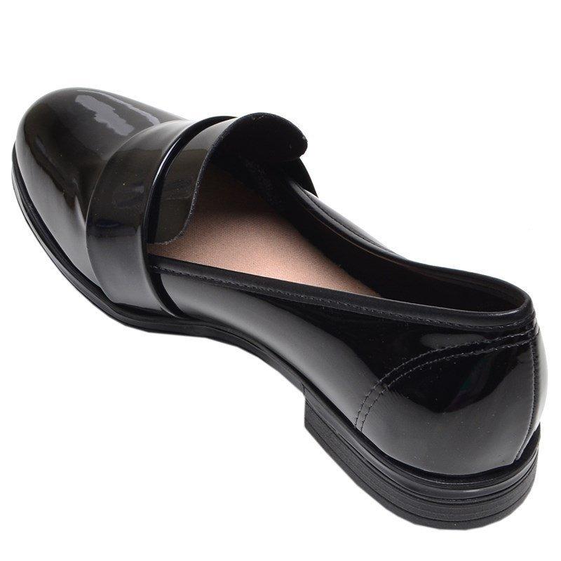 0336647da6 sapato feminino mocassim beira rio preto verniz. Carregando zoom.