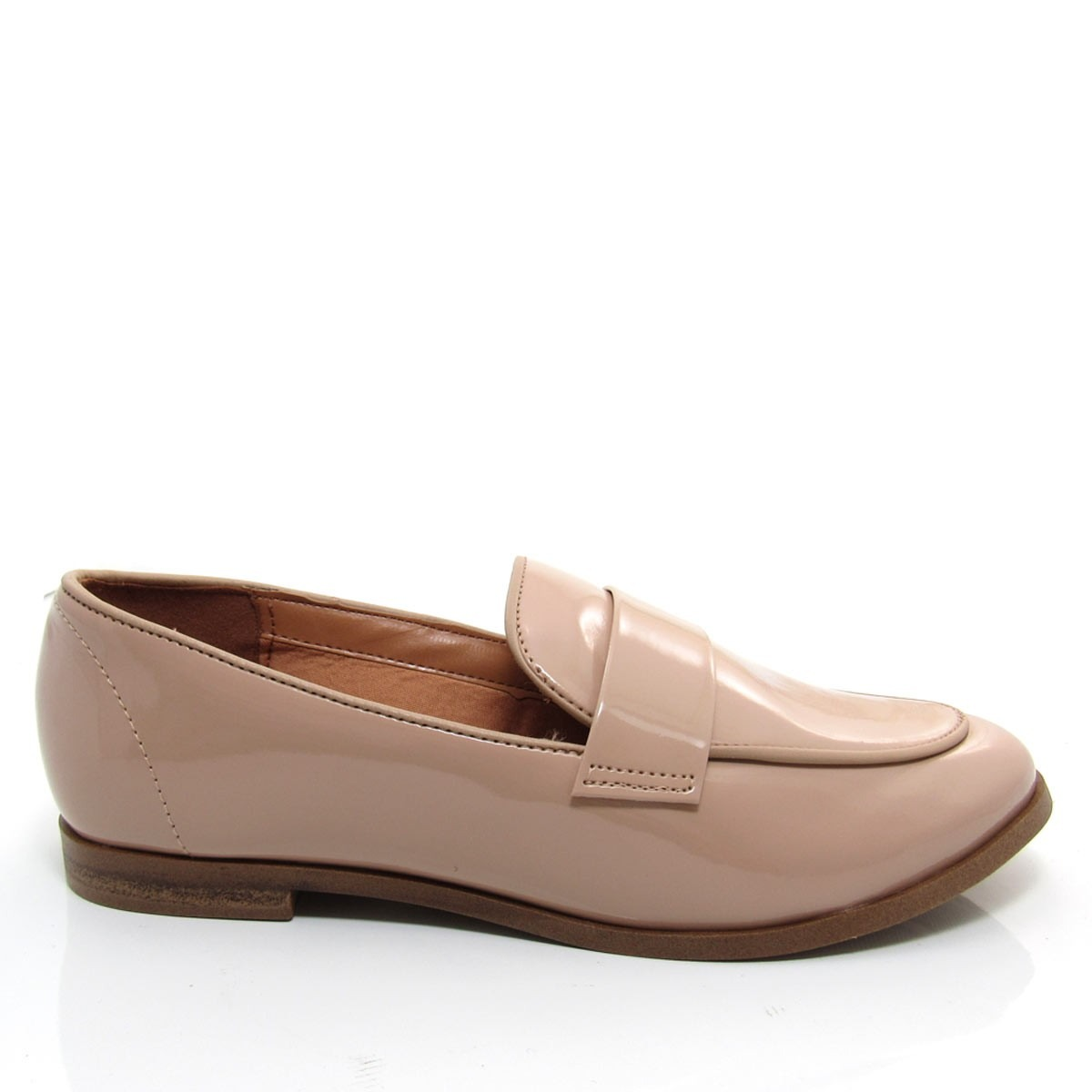 b5d6de4917 sapato feminino mocassim vizzano verniz 1248102 bege. Carregando zoom.
