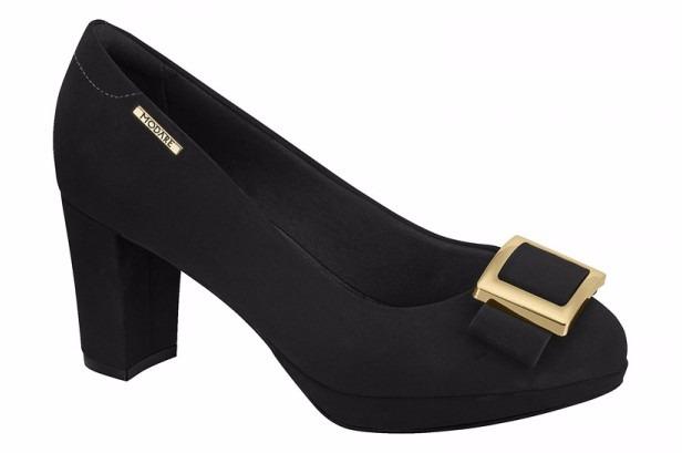 4d33ddd4c Sapato Feminino Modare Nobuck Preto - R$ 149,99 em Mercado Livre
