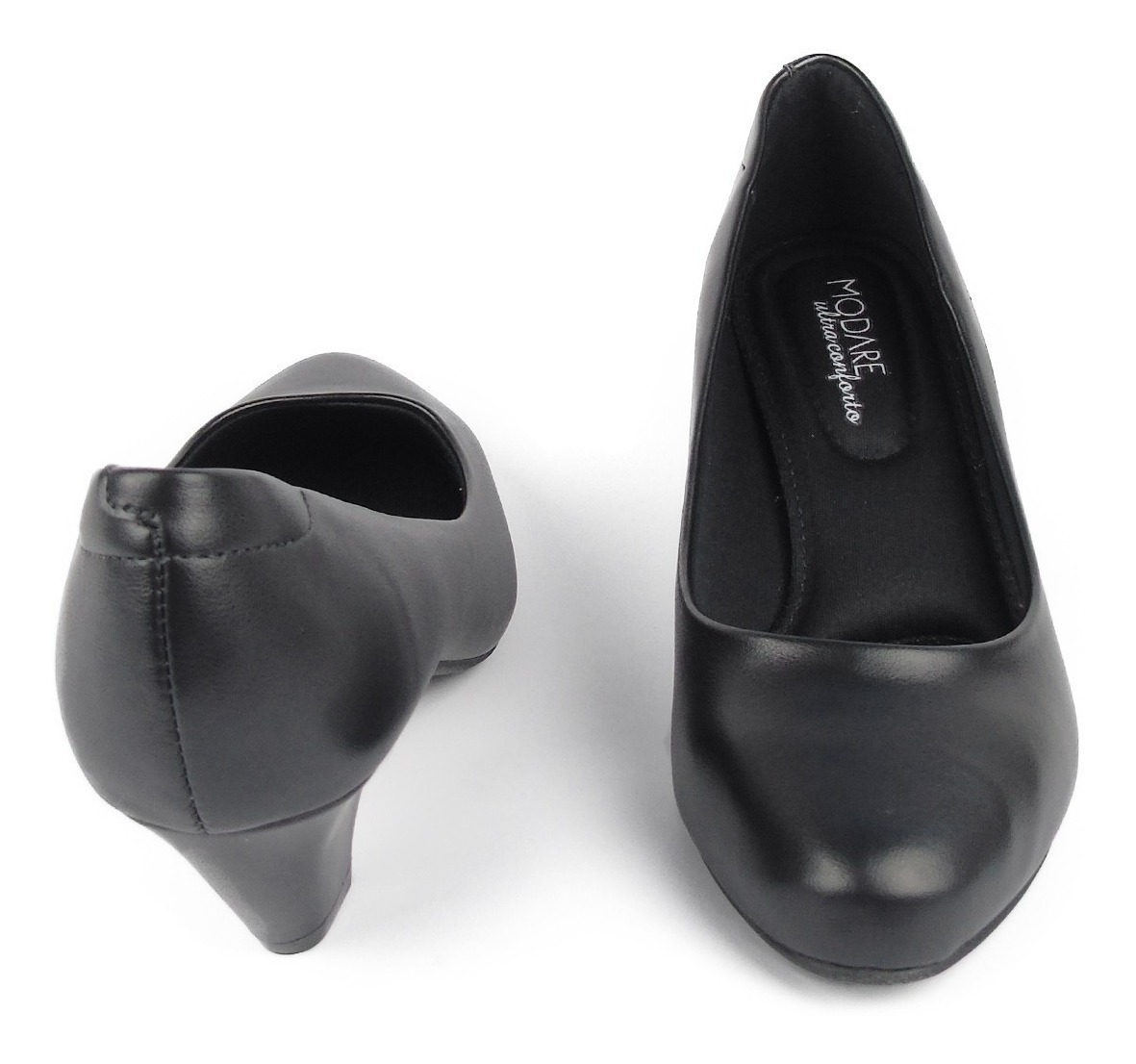 828568267 sapato feminino modare ultraconforto preto salto baixo macio. Carregando  zoom.