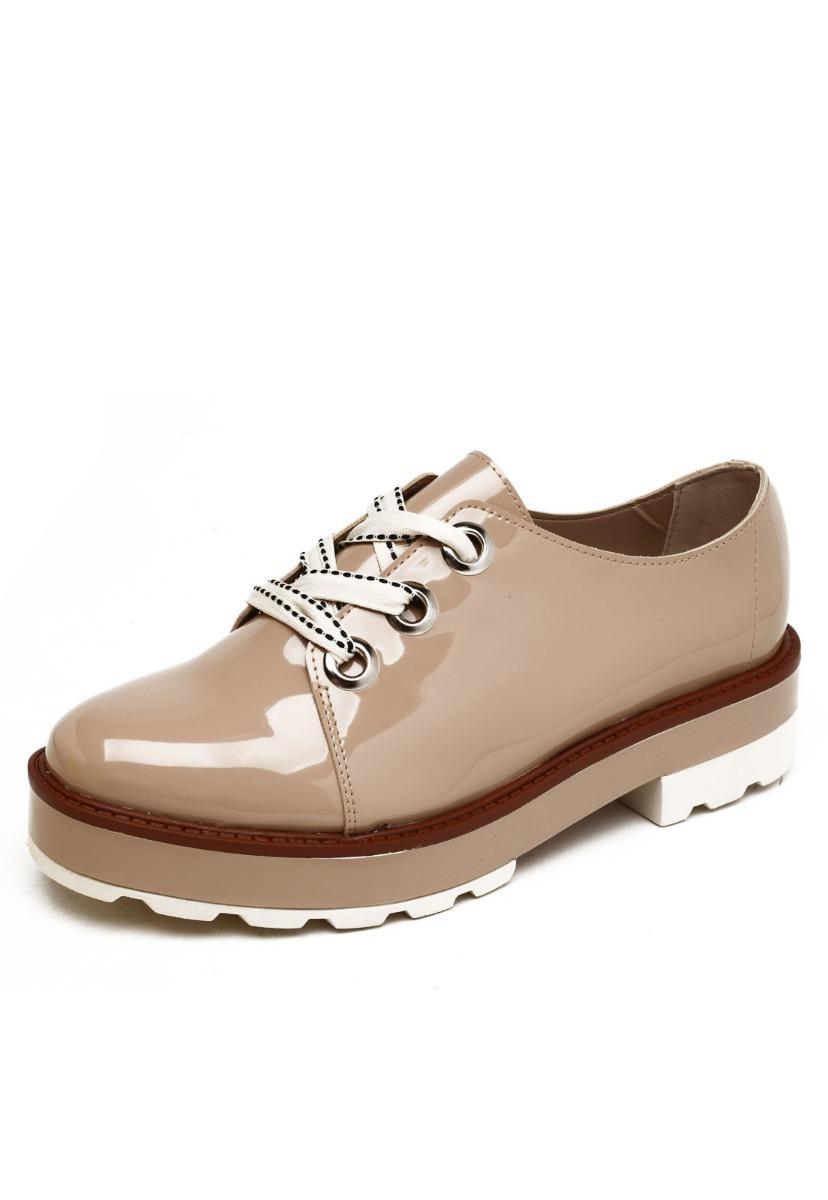 bb4afd00e5 sapato feminino moleca oxford tratorado 5646.102. Carregando zoom.