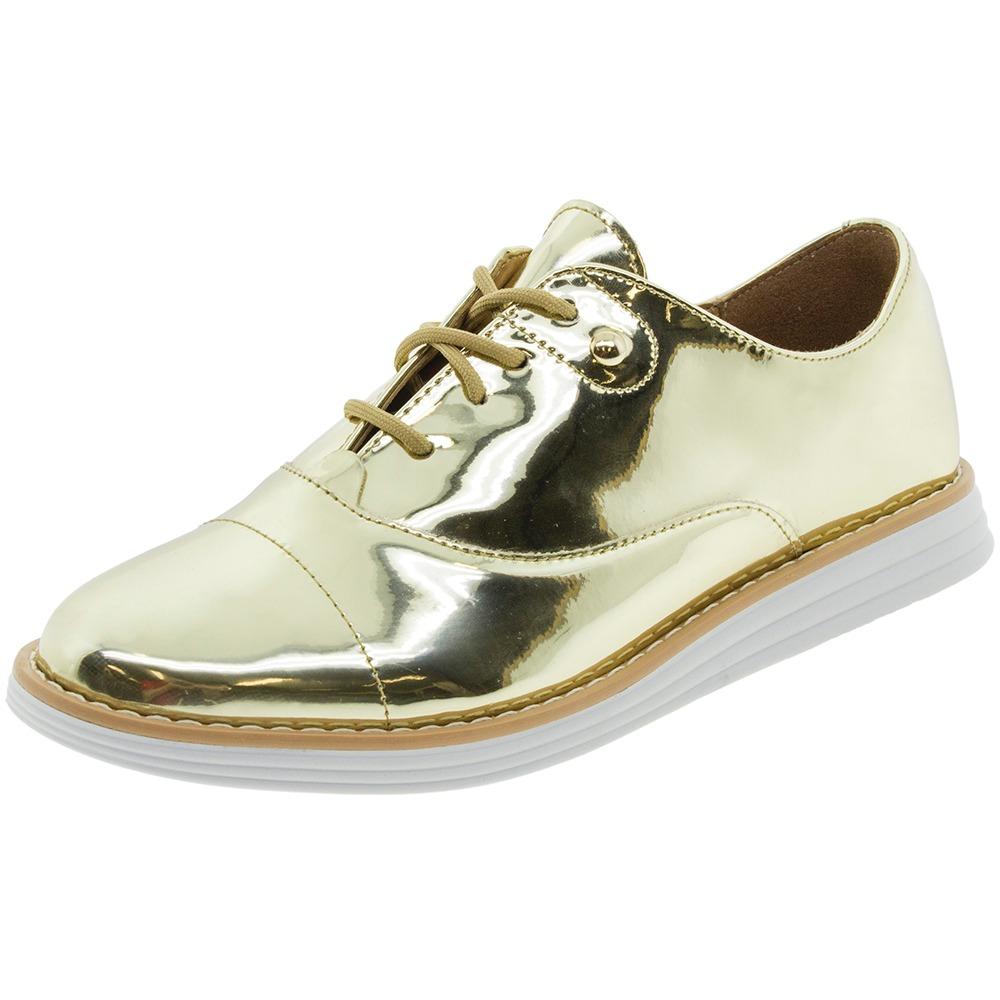 b7cca4749c sapato feminino oxford dourado vizzano - 1231100. Carregando zoom.