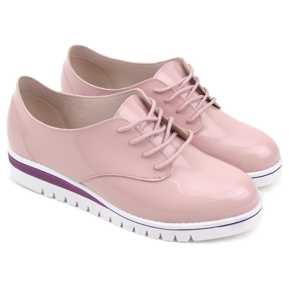 605cf3383 sapato feminino oxford verniz rosa plataforma beira rio. Carregando zoom.