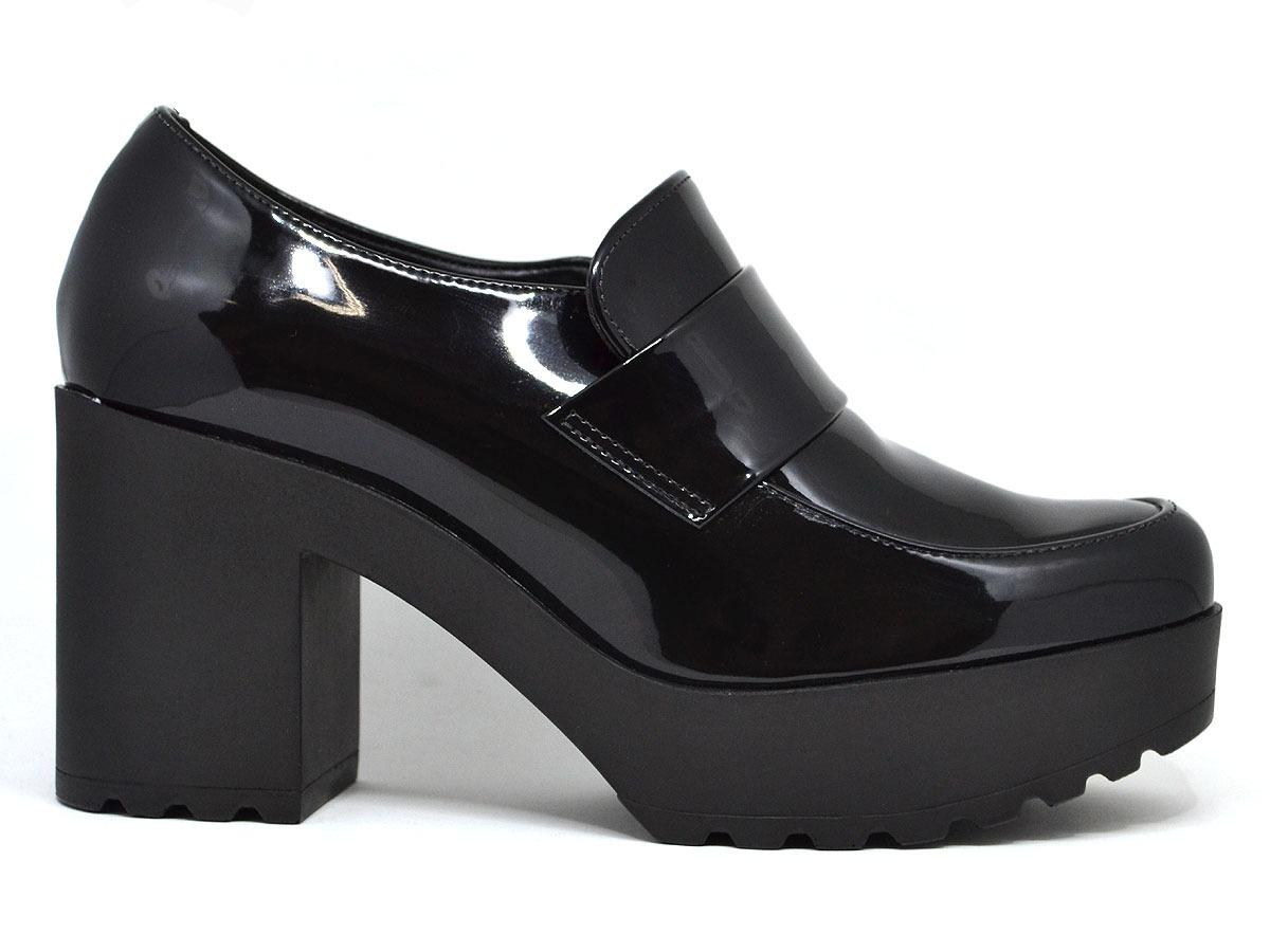 4fa10bcef9 sapato feminino oxford verniz salto tratorado moleca 5647101. Carregando  zoom.