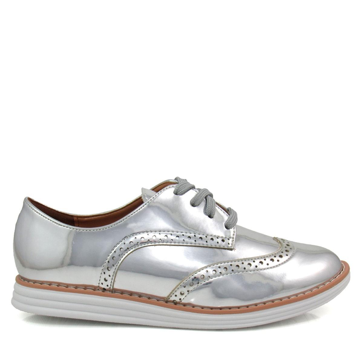 d35fc1385e sapato feminino oxford vizzano 1231101 metalizado. Carregando zoom.