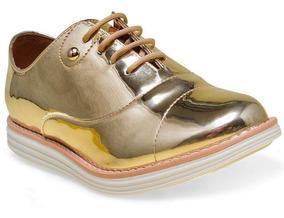 af35eaea4a Sapato Oxford Feminino Verde - Calçados, Roupas e Bolsas Dourado-escuro com  o Melhores Preços no Mercado Livre Brasil