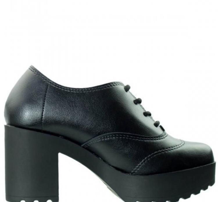 af499a644 Sapato Feminino Oxforf Moleca Tratorado Lançamento Inverno - R  129 ...