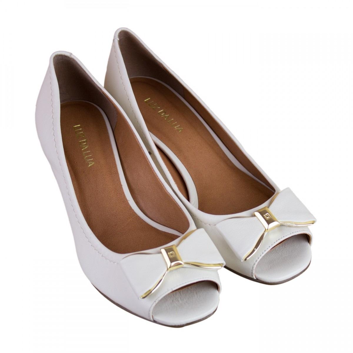 ae77c9a0c Sapato Feminino Peep Toe Luz Da Lua S45015 - R$ 298,90 em Mercado Livre