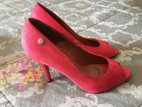 48cd60e6f7 Sapato Feminino Peep Toe Salto Alto Rosa Vizzano