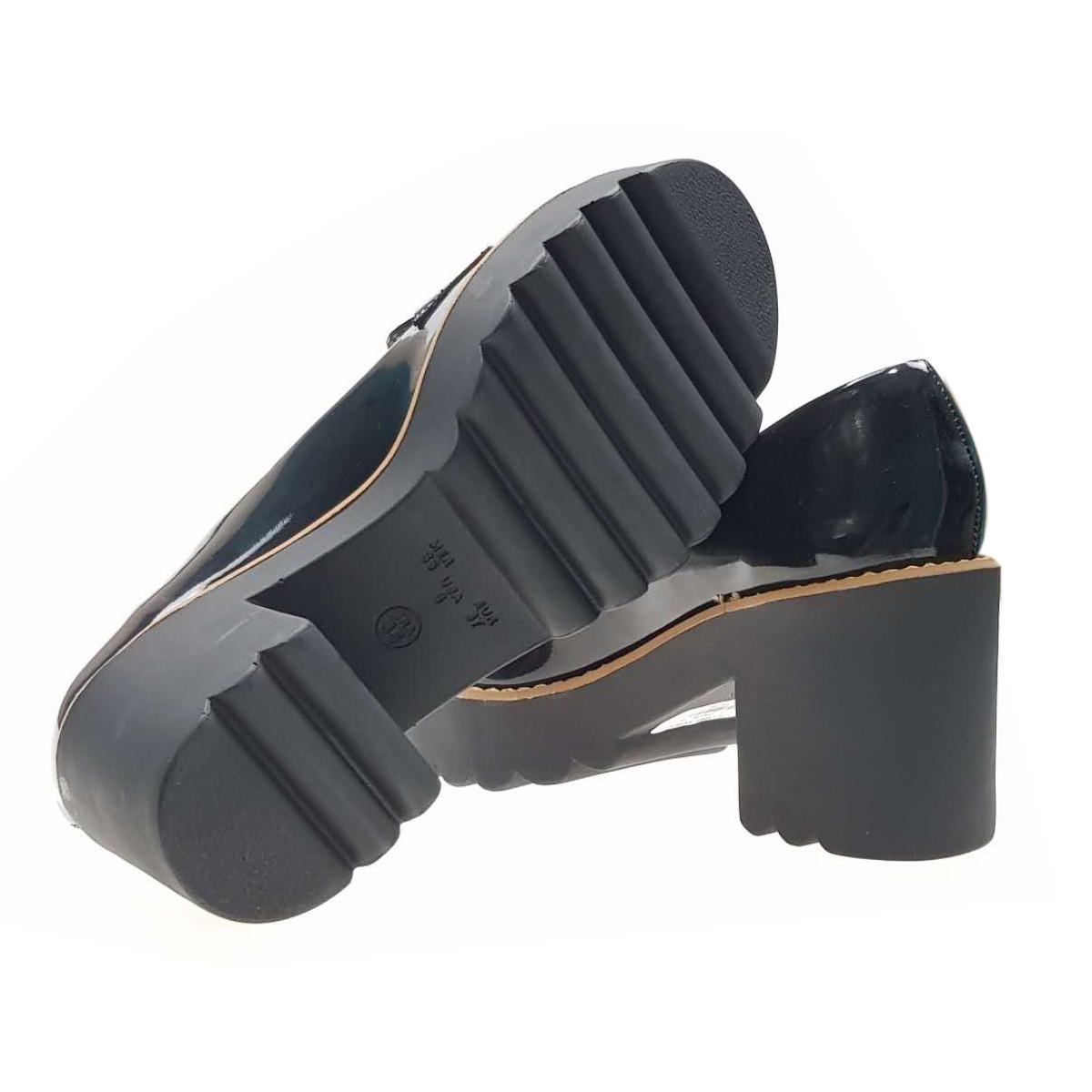 a37c3f3600 sapato feminino preta  vinho plataforma salto médio 152. Carregando zoom.