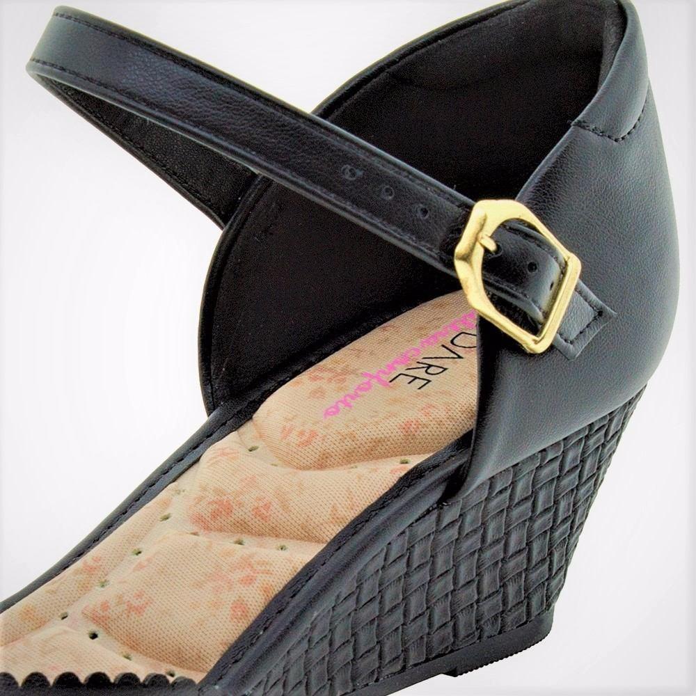 d1de082d4d sapato feminino preto boneca salto baixo medio frete grátis. Carregando zoom .