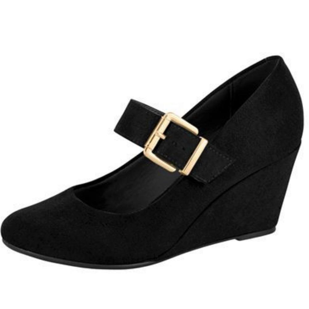 c75ed20857 sapato feminino preto boneca salto medio baixo frete gratis. Carregando zoom .