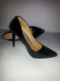 bbc1542b90 Scarpins Preto Salto Agulha - Sapatos no Mercado Livre Brasil