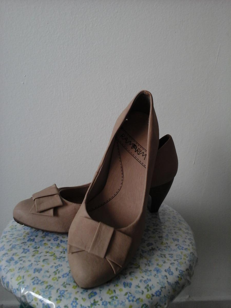 0a79d3d605 sapato feminino ramarim bege conforto salto baixo. Carregando zoom.
