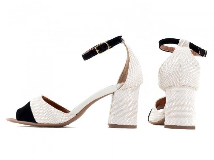af6e4e07a7 Sapato Feminino Salto Alto Baixo Grosso Barato Branco Noiva - R  121 ...