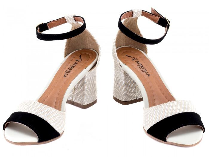 cf7ab0dca Sapato Feminino Salto Alto Baixo Grosso Barato Branco Noiva - R  121 ...