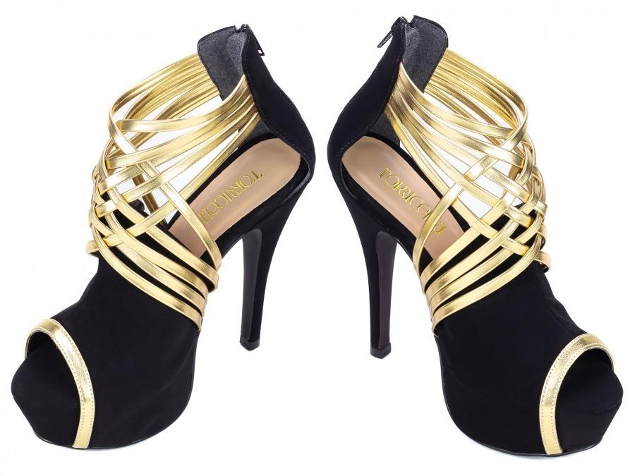 09e05379d Sapato Feminino Salto Alto Fino Preto Festas Evento Balada - R$ 197,00 em  Mercado Livre