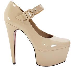 067c47ab1 Saltos Nudes Fechados E Com Tirinha - Sapatos com o Melhores Preços ...