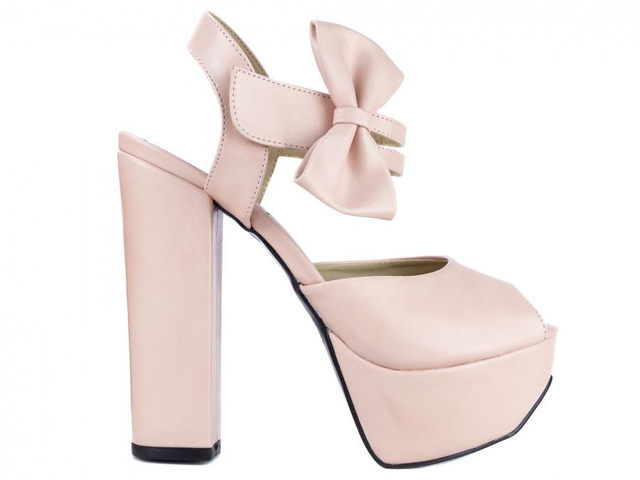 61f91218d2 sapato feminino salto alto grosso nude festa meia pata noiva. Carregando  zoom.