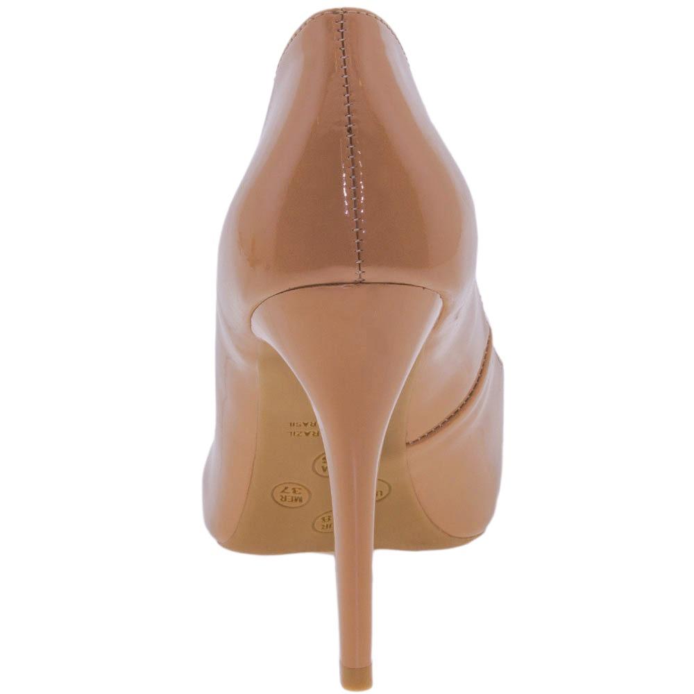 b8a90a4528 sapato feminino salto alto natural di cristalli - 3128333. Carregando zoom.