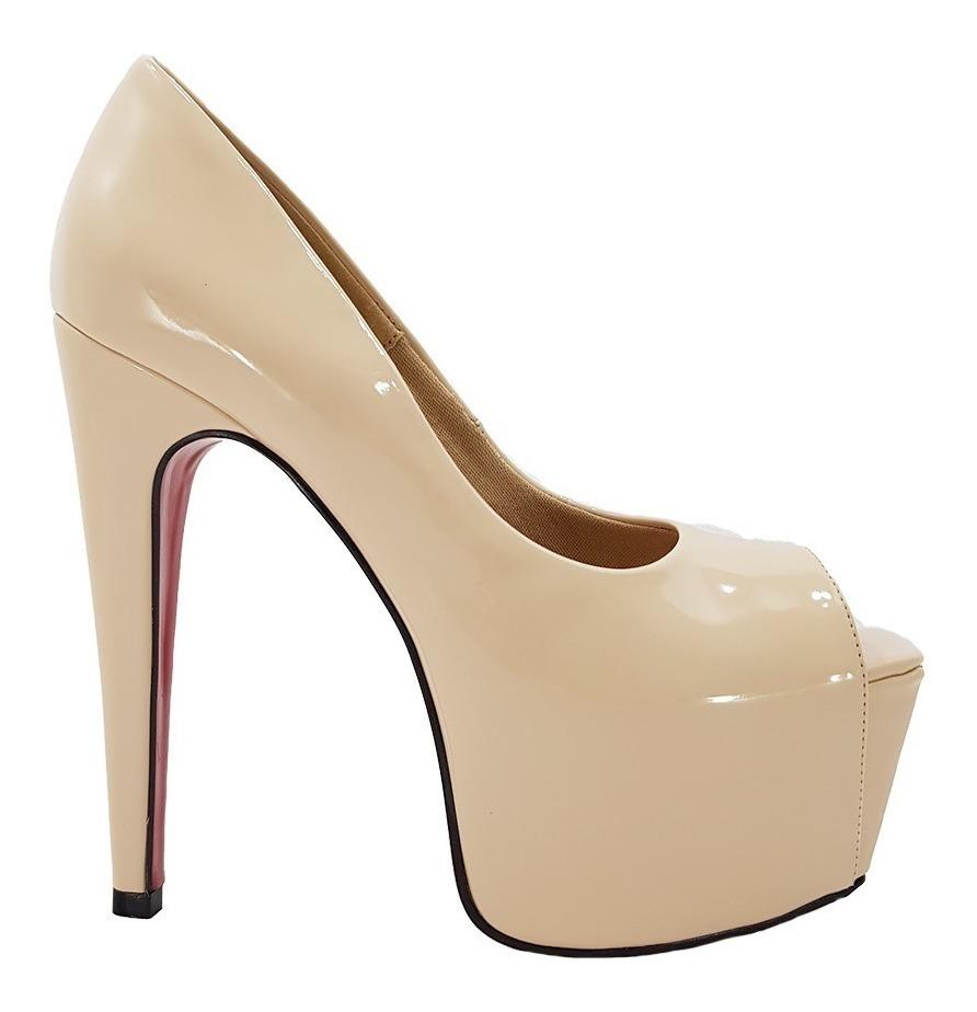 b501858f6 sapato feminino salto alto nude numeração especial cód 38. Carregando zoom.