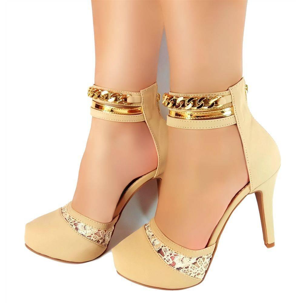 c0875c620 sapato feminino salto alto scarpin festa sandália formatura. Carregando  zoom.