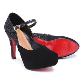 36173bd26f Sapato De Salto Com Tornozeleira De Strass no Mercado Livre Brasil