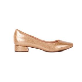a557642c72 Sapato Feminino Casamento Salto Baixo - Sapatos para Feminino Dourado no  Mercado Livre Brasil