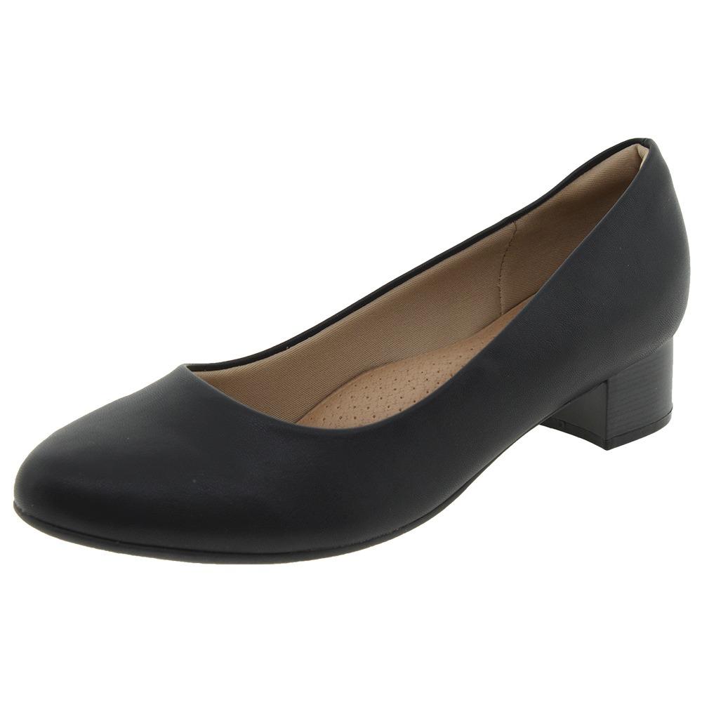 d7acd57ee4 sapato feminino salto baixo preto piccadilly - 140110. Carregando zoom.