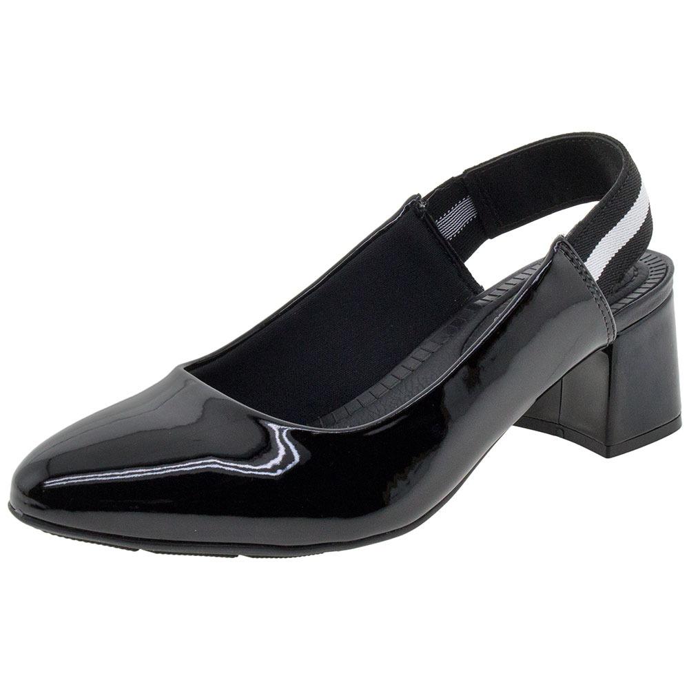 1b37a60673 sapato feminino salto baixo verniz/preto modare - 7332102. Carregando zoom.