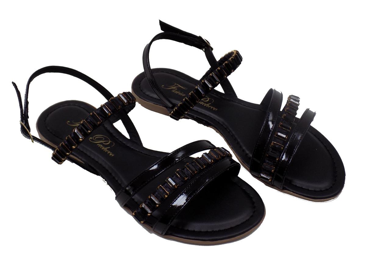 66cb2725b8 sapato feminino sandália rasteirinha flavia pacheco preta. Carregando  zoom... sapato feminino sandália. Carregando zoom.