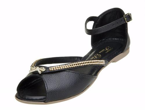 sapato feminino sandália rasteirinha flavia pacheco pedra