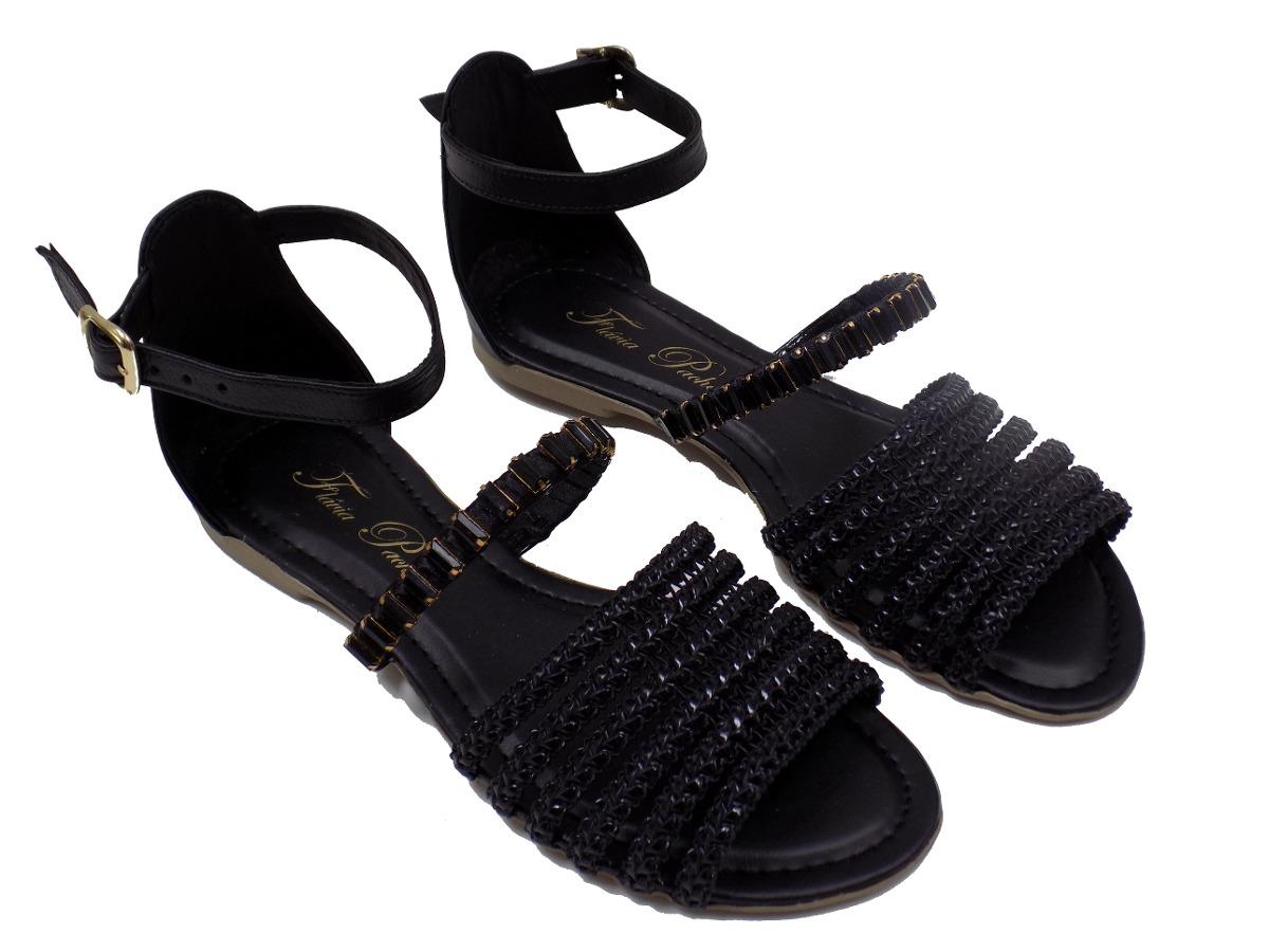 df6af67dfc sapato feminino sandália rasteirinha flavia pacheco preta 2. Carregando  zoom.